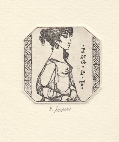 Jiřincová Ludmila (1912 - 1994) : Ex libris Ing. P.T.