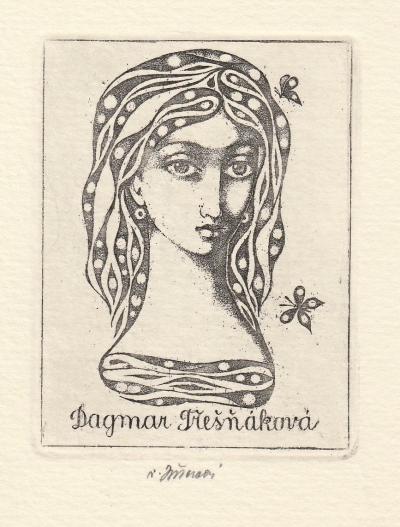 Jiřincová Ludmila (1912 - 1994) : Ex libris Dagmar Třešňáková