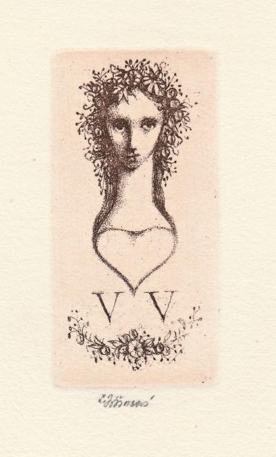Jiřincová Ludmila (1912 - 1994) : Ex libris V.V.