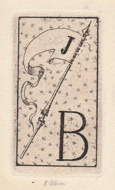 Jiřincová Ludmila (1912 - 1994) : Ex libris J. B.