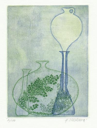 Storchová Hana (1936) : Zátiší s baňkami