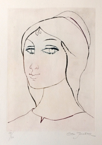 Janeček Ota (1919 - 1996) : Hlava dívky