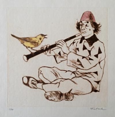 Ketzek František (1906 - 1978) : Klaun s ptáčkem