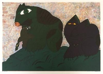 Šalamoun Jiří  (1934) : Dvě kočky