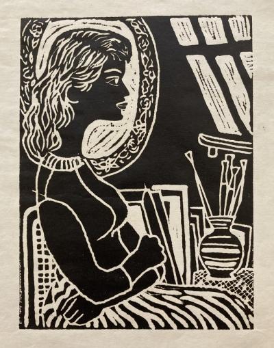 Šlitr Jiří (1924 - 1969) : Dívka se zrcadlem