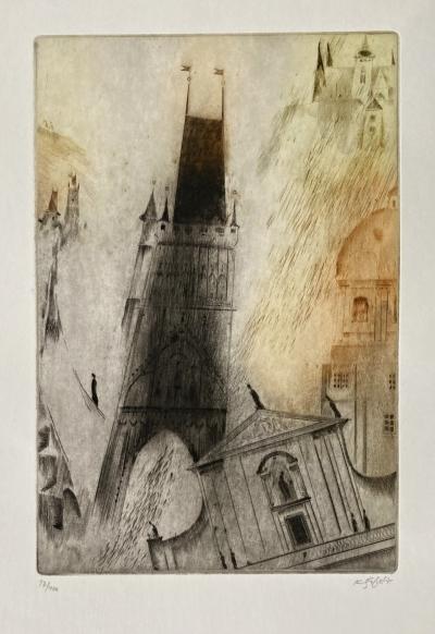 Šafář Karel (1938 - 2016) : Mostecká věž