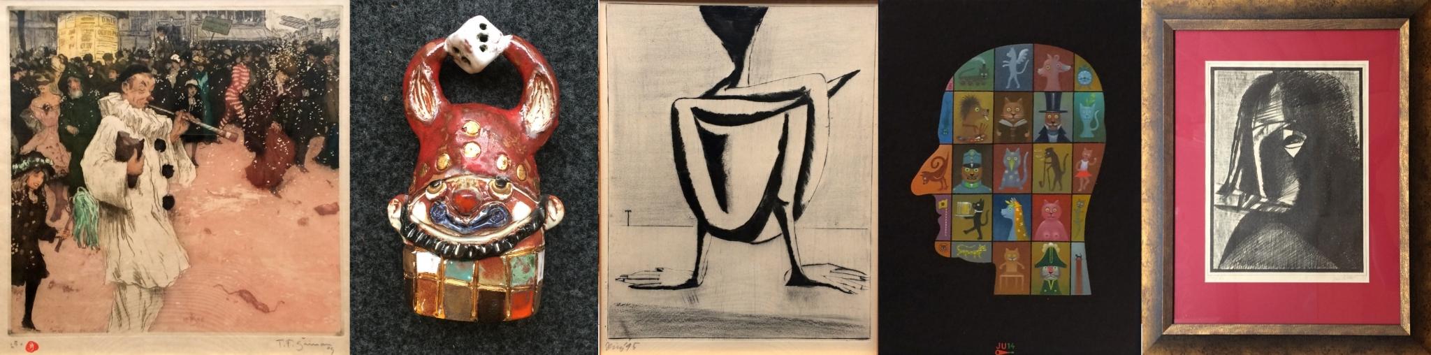 Česká tvorba XX. století a současná tvorba obrazy, kresby, grafiky a plastika
